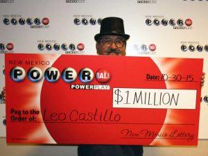 Leo Castillo, winner of $1 Million Powerball® prize
