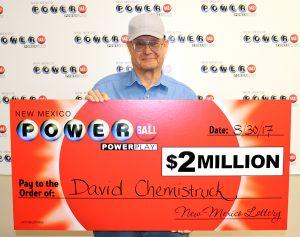 David Chemistruck, winner of $2 million Powerball® prize