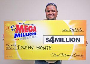 Timothy Monte, winner of $4 Million Mega Millions® prize