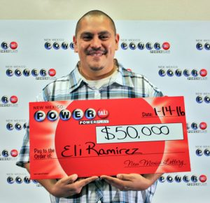 Eli Ramirez, winner of $50,000 Powerball prize