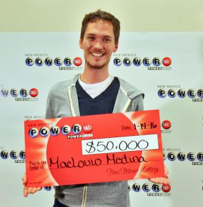 Maclovio Medina, winner of $50,000 Powerball prize