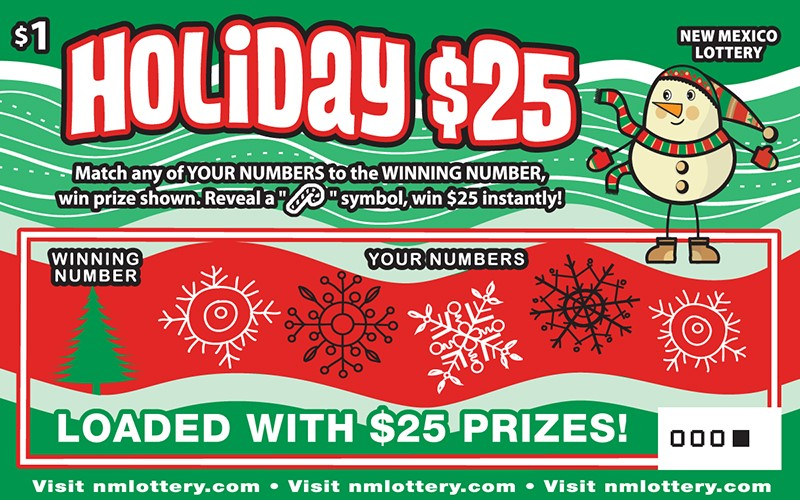 Holiday $25 Scratcher